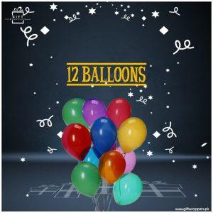 12 mix balloons