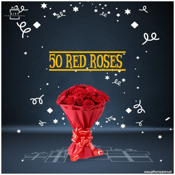 50-Red-Roses bunch