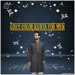 Grey-Color-Kurta-for-Men