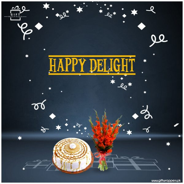 Happy-Delight-with-bouqet