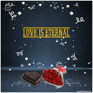 Love-is-Eternal with bouqet
