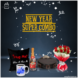 New Year Super Combo with flower bouqet