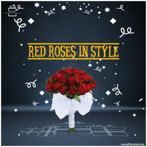 Red-Roses-in-Style with white paper