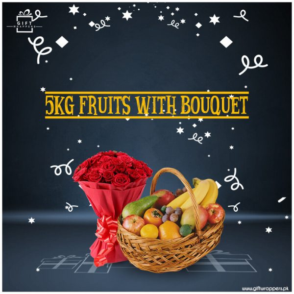 5Kg-Fruits-With-flower-Bouquet