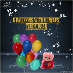 6-Balloons-with-6-inches-teddy-bear