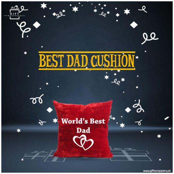 Best-Dad-red-Cushion