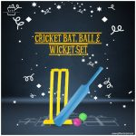 Cricket-Bat,-Ball-&-Wicket-Set