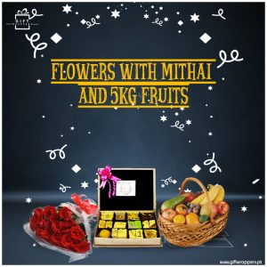 Flowers-With-Mithai-And-