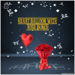 Heart-Balloon-With-Rose-Bunch
