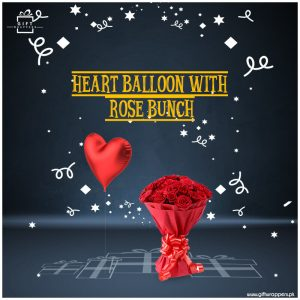 Heart-Balloon-Rose-Bunch