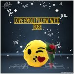 Love-Emoji-Pillow-With-Rose
