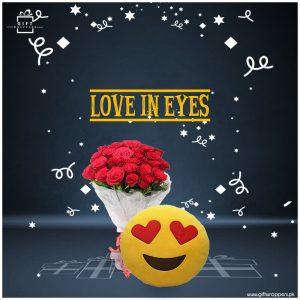 Love In Eyes witrh bouqet