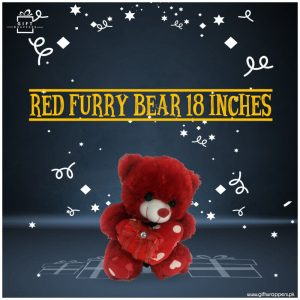 Red Furry Bear 18 Inches