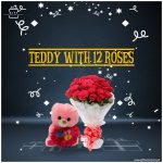 Teddy-With-12-Roses