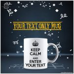 Your-Text-only-Mug