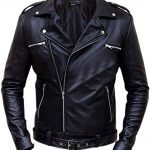 Walking Dead Negan Brando Biker Style Real Leather Jacket