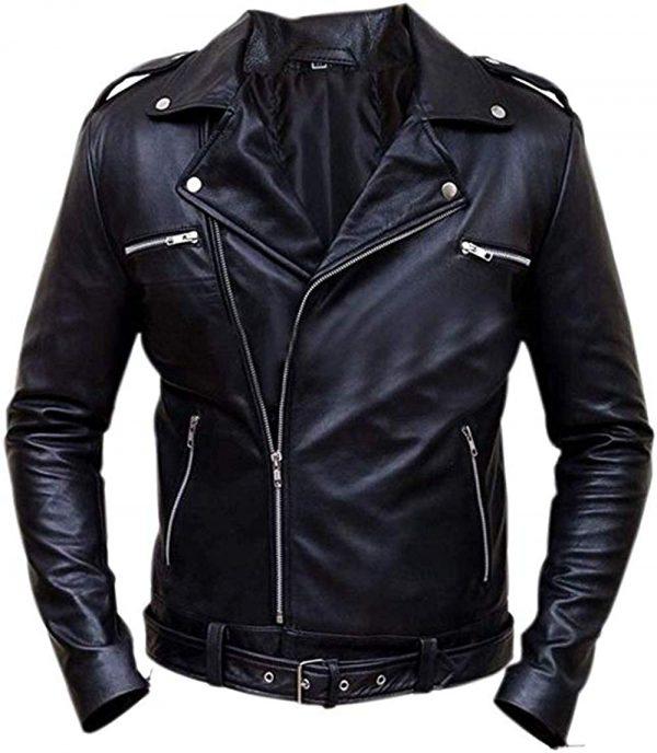 Walking Dead Negan Brando Biker Style Real Leather Jacket