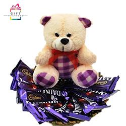 CHOCOLATES TEDDY BASKET
